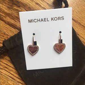 Michael Kors gold heart earrings